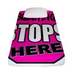 Bullying Stops Here Pink Sign Fitted Sheet (single Size) by Alisyart