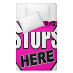 Bullying Stops Here Pink Sign Duvet Cover Double Side (single Size) by Alisyart