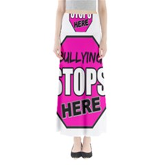 Bullying Stops Here Pink Sign Maxi Skirts