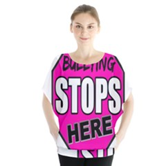 Bullying Stops Here Pink Sign Blouse