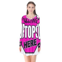 Bullying Stops Here Pink Sign Flare Dress