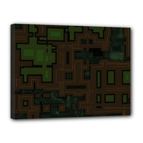 Circuit Board A Completely Seamless Background Design Canvas 16  X 12  by Simbadda