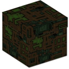 Circuit Board A Completely Seamless Background Design Storage Stool 12   by Simbadda