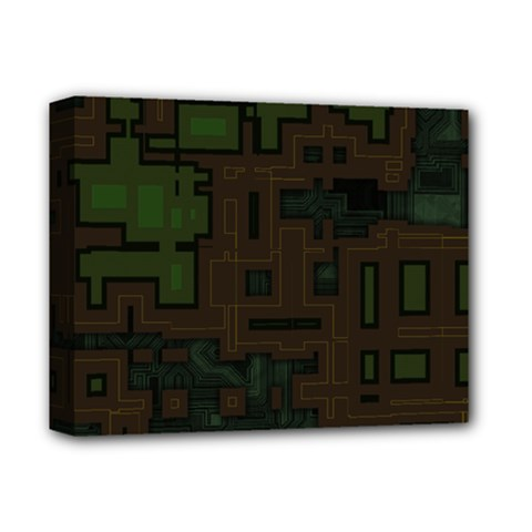 Circuit Board A Completely Seamless Background Design Deluxe Canvas 14  X 11  by Simbadda