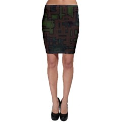 Circuit Board A Completely Seamless Background Design Bodycon Skirt by Simbadda