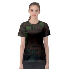 Circuit Board A Completely Seamless Background Design Women s Sport Mesh Tee by Simbadda