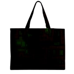 Circuit Board A Completely Seamless Background Design Medium Zipper Tote Bag by Simbadda