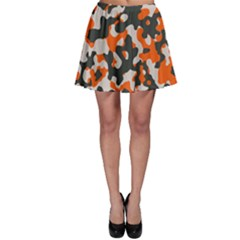 Camouflage Texture Patterns Skater Skirt by Simbadda