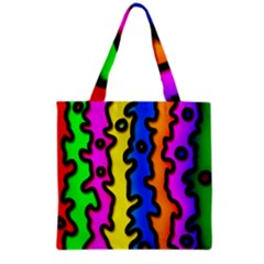 Digitally Created Abstract Squiggle Stripes Grocery Tote Bag by Simbadda