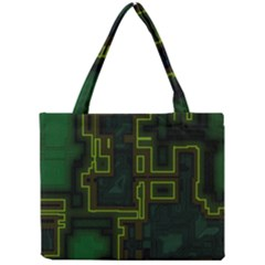 A Completely Seamless Background Design Circuit Board Mini Tote Bag