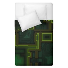 A Completely Seamless Background Design Circuit Board Duvet Cover Double Side (single Size)