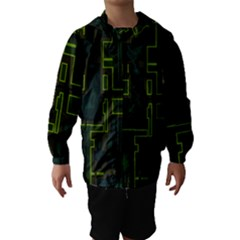 A Completely Seamless Background Design Circuit Board Hooded Wind Breaker (kids) by Simbadda