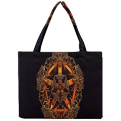 3d Fractal Jewel Gold Images Mini Tote Bag