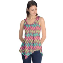 Abstract Seamless Abstract Background Pattern Sleeveless Tunic