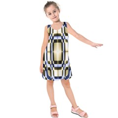 Colorful Seamless Pattern Vibrant Pattern Kids  Sleeveless Dress by Simbadda