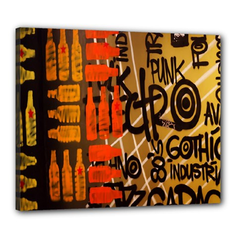 Graffiti Bottle Art Canvas 24  X 20