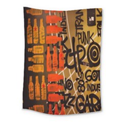 Graffiti Bottle Art Medium Tapestry