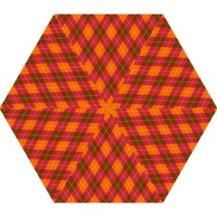 Argyle Pattern Background Wallpaper In Brown Orange And Red Mini Folding Umbrellas