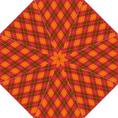 Argyle Pattern Background Wallpaper In Brown Orange And Red Hook Handle Umbrellas (large) by Simbadda