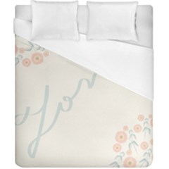 Love Card Flowers Duvet Cover (california King Size) by Simbadda