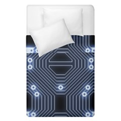 A Completely Seamless Tile Able Techy Circuit Background Duvet Cover Double Side (single Size) by Simbadda