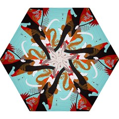 Colorful Graffiti In Amsterdam Mini Folding Umbrellas by Simbadda