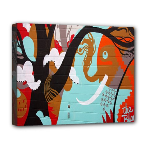 Colorful Graffiti In Amsterdam Deluxe Canvas 20  X 16   by Simbadda