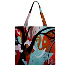 Colorful Graffiti In Amsterdam Zipper Grocery Tote Bag by Simbadda