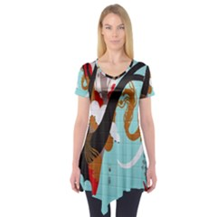 Colorful Graffiti In Amsterdam Short Sleeve Tunic