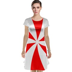 Candy Red White Peppermint Pinwheel Red White Cap Sleeve Nightdress