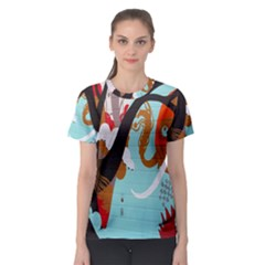 Colorful Graffiti In Amsterdam Women s Sport Mesh Tee by Simbadda