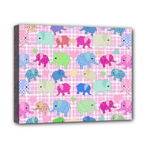 Cute Elephants  Canvas 10  X 8  by Valentinaart