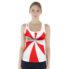 Candy Red White Peppermint Pinwheel Red White Racer Back Sports Top by Alisyart