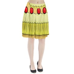 Cake Bread Pie Cerry Pleated Skirt by Alisyart
