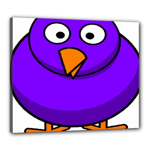 Cartoon Bird Purple Canvas 24  X 20  by Alisyart