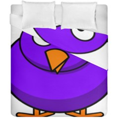 Cartoon Bird Purple Duvet Cover Double Side (california King Size)