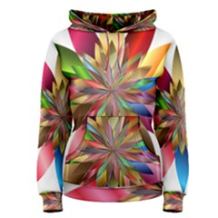 Chromatic Flower Gold Rainbow Women s Pullover Hoodie