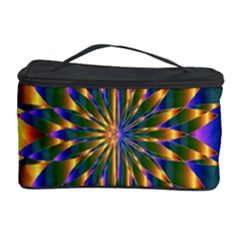 Chromatic Flower Gold Rainbow Star Light Cosmetic Storage Case