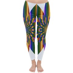 Chromatic Flower Gold Rainbow Star Light Classic Winter Leggings