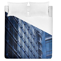 Building Architectural Background Duvet Cover (queen Size) by Simbadda