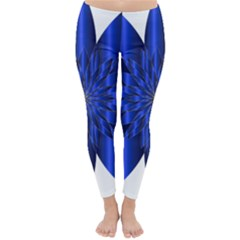 Chromatic Flower Blue Star Classic Winter Leggings