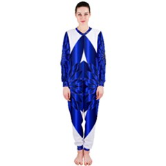 Chromatic Flower Blue Star Onepiece Jumpsuit (ladies)  by Alisyart