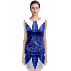 Chromatic Flower Blue Star Classic Sleeveless Midi Dress by Alisyart