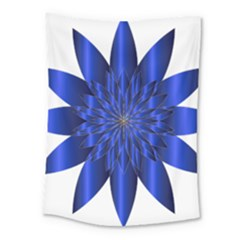 Chromatic Flower Blue Star Medium Tapestry by Alisyart