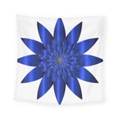 Chromatic Flower Blue Star Square Tapestry (small) by Alisyart