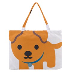 Dog Medium Zipper Tote Bag