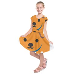 Dog Kids  Short Sleeve Dress by Alisyart