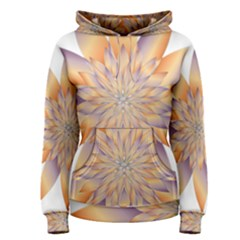 Chromatic Flower Gold Star Floral Women s Pullover Hoodie