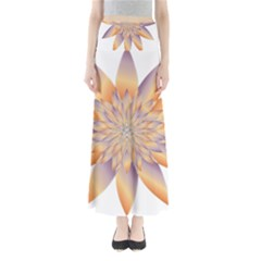 Chromatic Flower Gold Star Floral Maxi Skirts by Alisyart