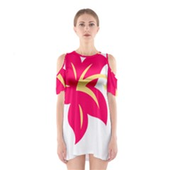 Flower Floral Lily Blossom Red Yellow Shoulder Cutout One Piece